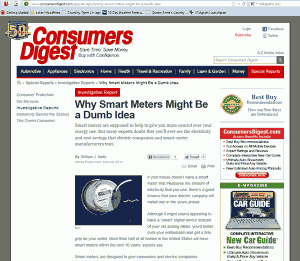 Consumers Digest: Why Smart Meters Might Be a Dumb Idea