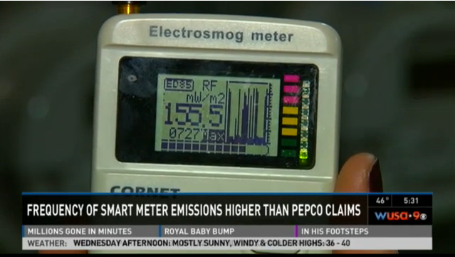 WUSA9-smart-meter-radiation-higher-than-pepco-claims