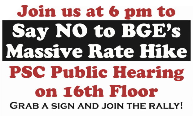 Say No to BGE Rate Hike